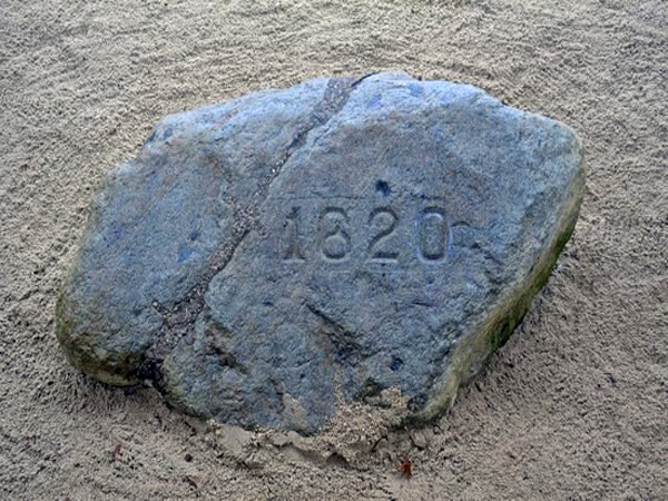 Plymouth Rock in Plymouth, Massachusetts - Location of Icehouse Pictures