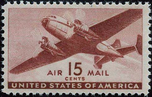 Antique Airmail Stamp to Ship Home Movies